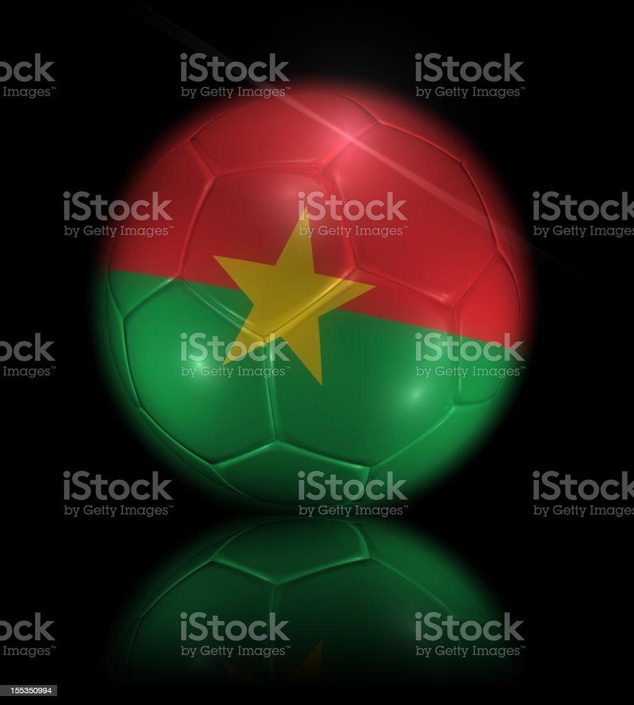 Burkina Faso soccer ball royalty-free stock photo