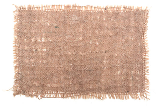 Burlap canvas Burlap canvas isolated on white background burlap stock pictures, royalty-free photos & images