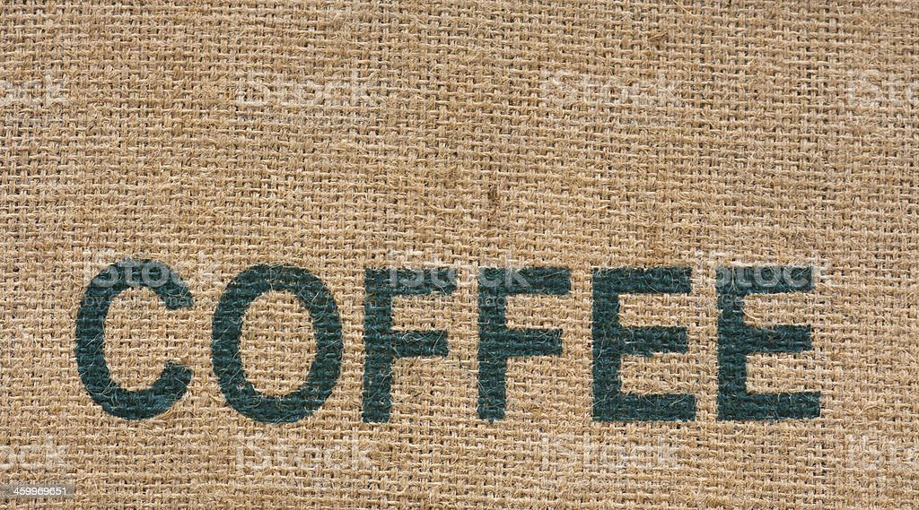 Burlap Coffee Bag royalty-free stock photo