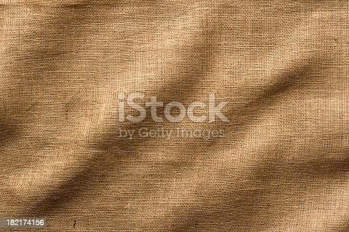 Wrinkled Burlap fabric - use as a Horizontal or Vertical image, lots of texture and detail. Full Frame.