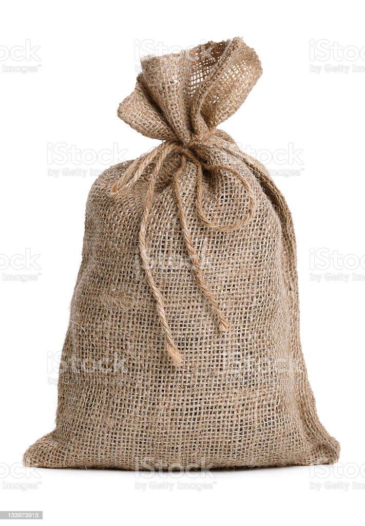 Burlap money sack stock photo
