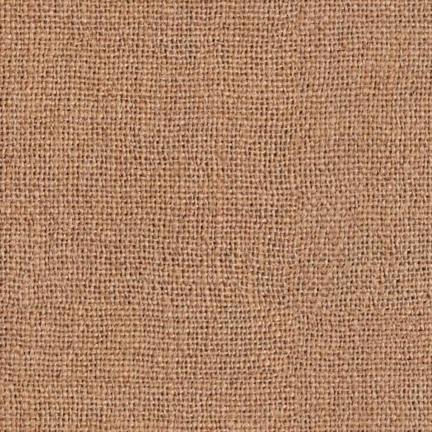 Sackleinen, naturstoff. Nahtlose quadratische Textur oder Hintergrund – Foto
