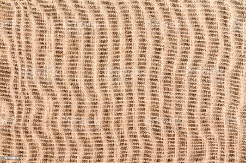 Burlap or hessian textile background texture stock photo