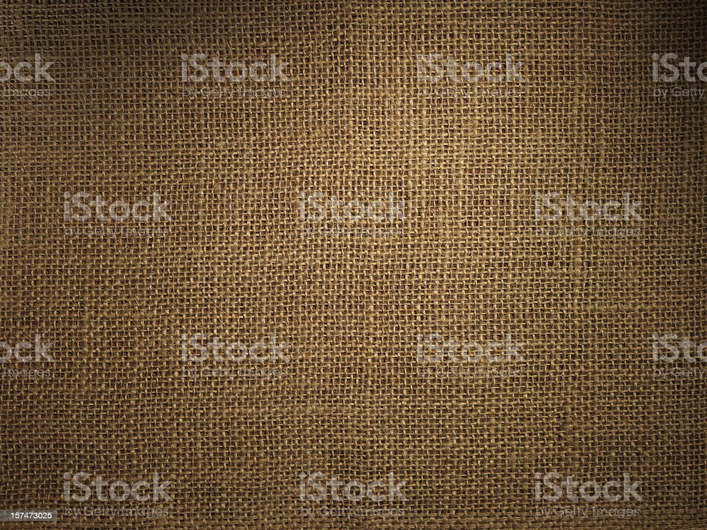 Burlap or sack texture stock photo