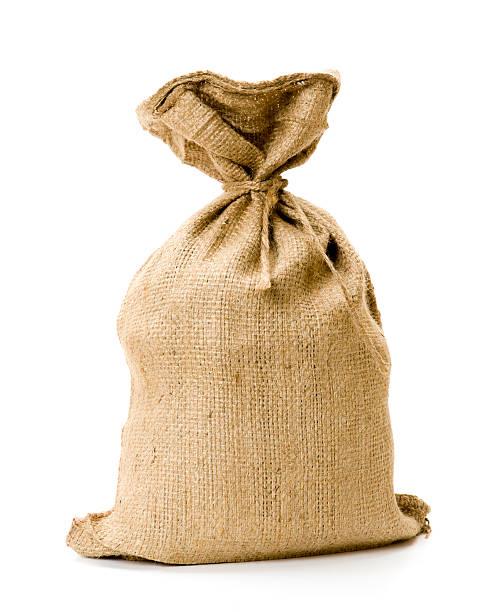 burlap sack - zak tas stockfoto's en -beelden