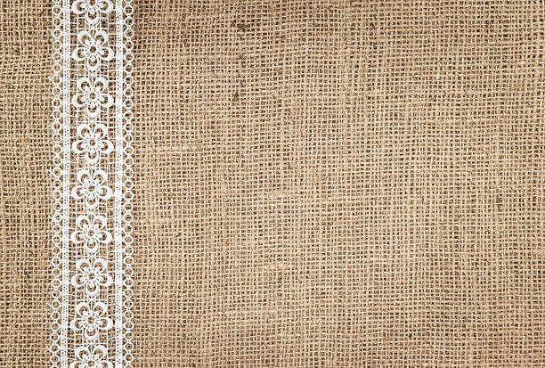 sackleinwand textur - vintage spitze stock-fotos und bilder