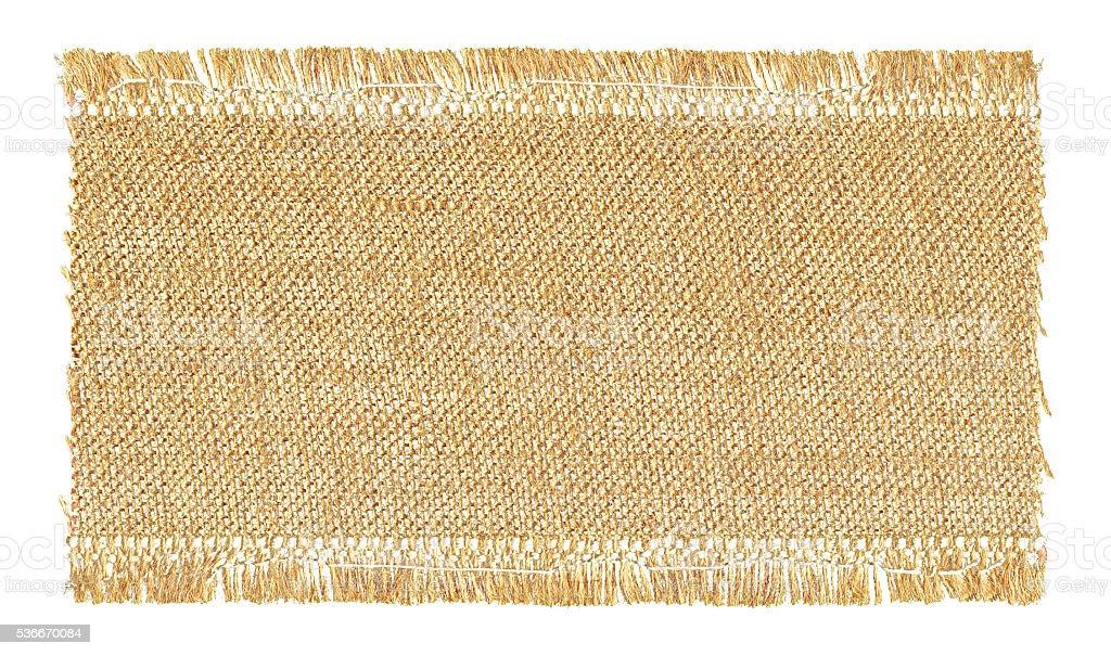 Burlap textured background isolated on white stock photo