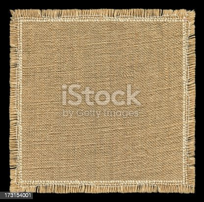istock Burlap textured background with full frame isolated 173154001