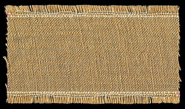 jute textur hintergrund mit full frame - teppich baumwolle stock-fotos und bilder