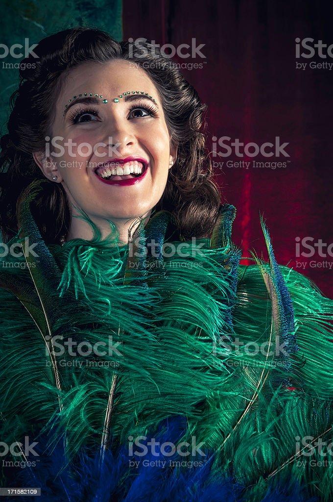 Burlesque Dancer - I royalty-free stock photo