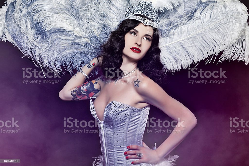 Burlesque Diva stock photo