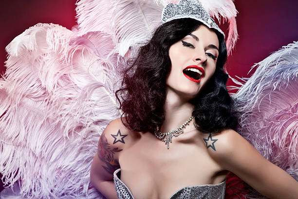 burlesque diva - burlesque stock photos and pictures