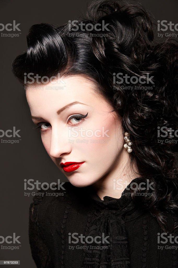 Burlesque girl royalty-free stock photo