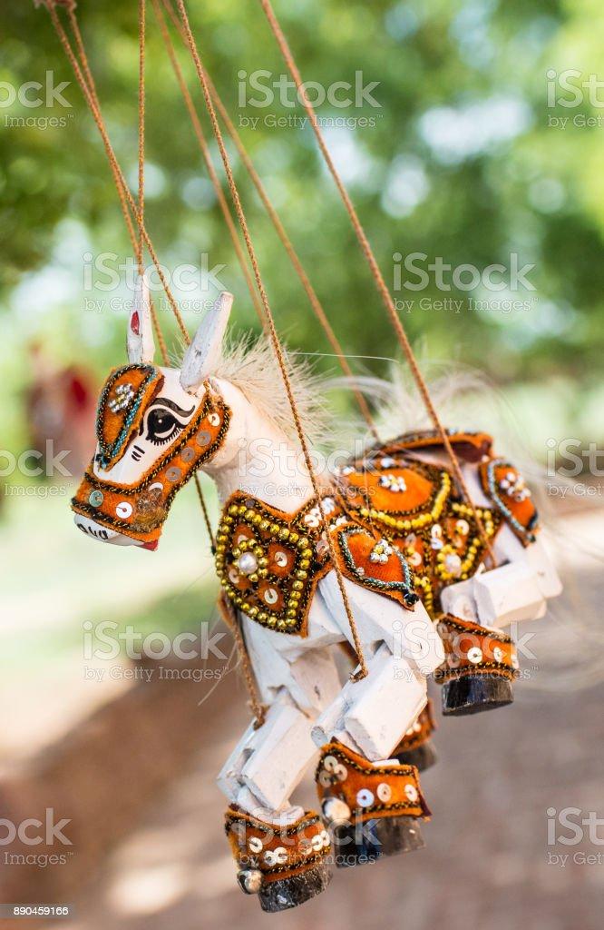 Burmese Marionette Puppet Souvenir in Myanmar stock photo
