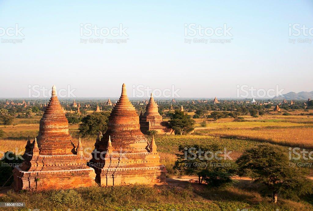 Burmese Pagodas royalty-free stock photo