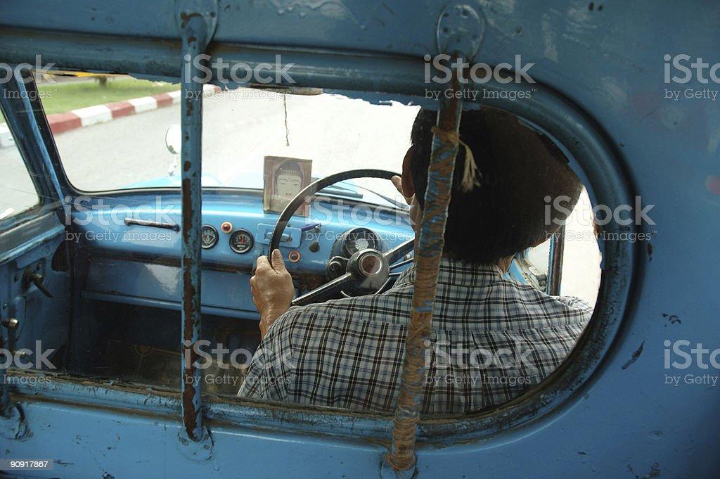 burmese taxidriver royalty-free stock photo