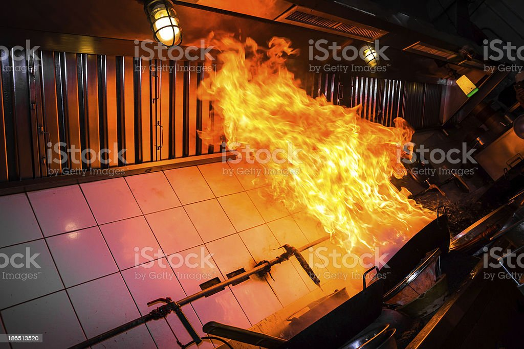 Burn fire cooking royalty-free stock photo