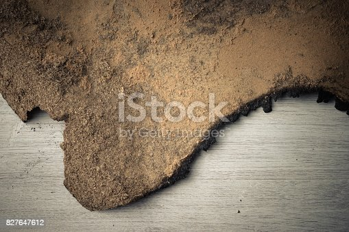 istock Burn marks Old wooden floor background 827647612