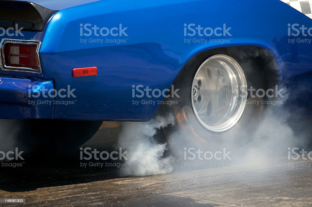 Burn off in bright blue stock photo