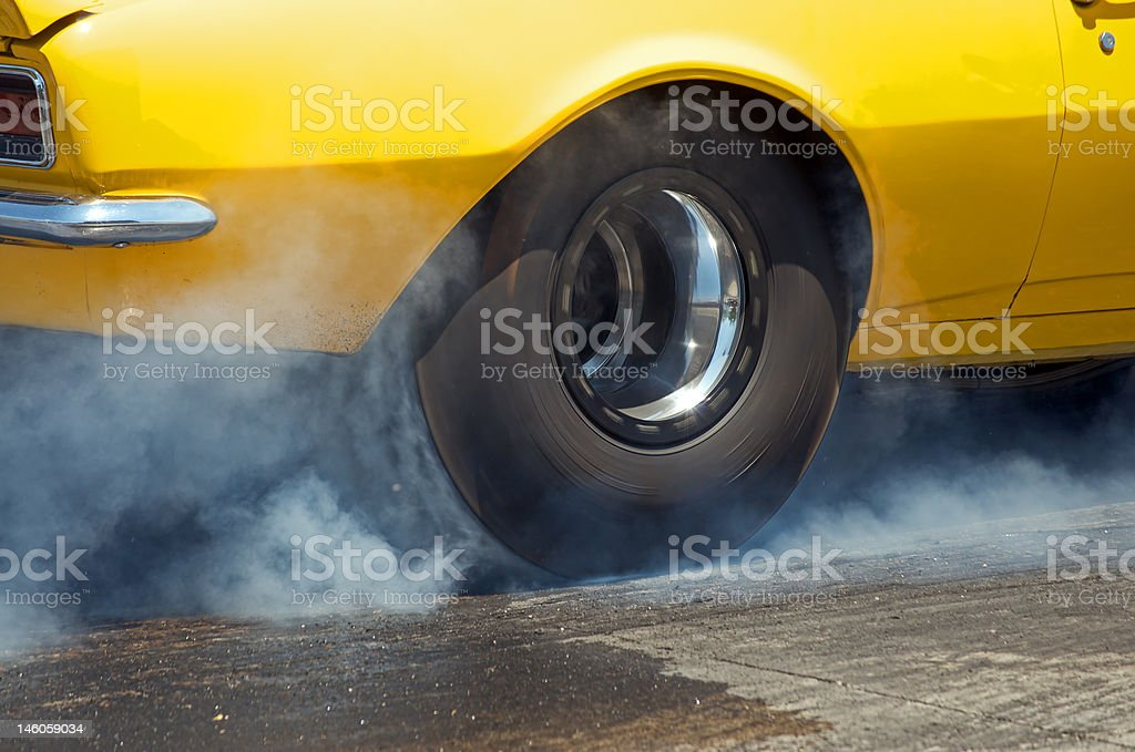 Burn off in yellow stock photo