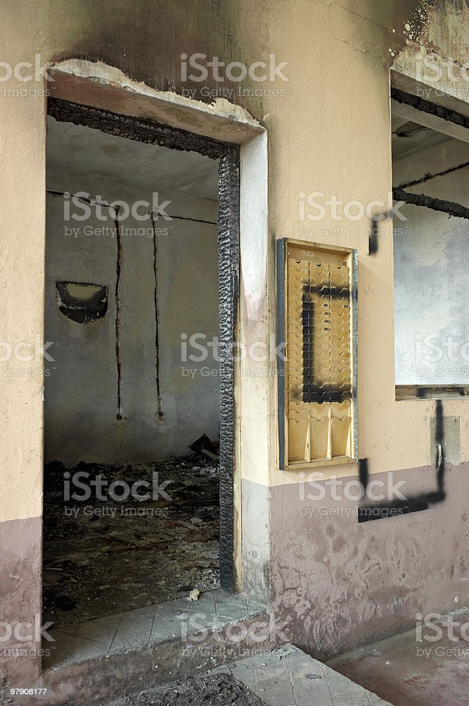 Burn out room royalty-free stock photo
