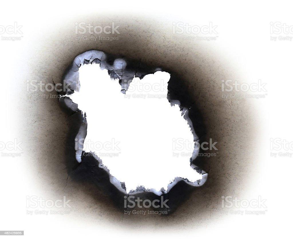 Burn paper stock photo