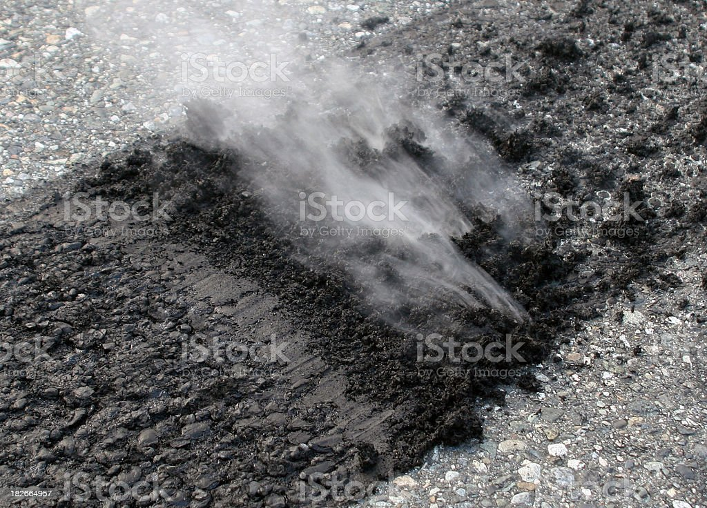 Burn Rubber! royalty-free stock photo