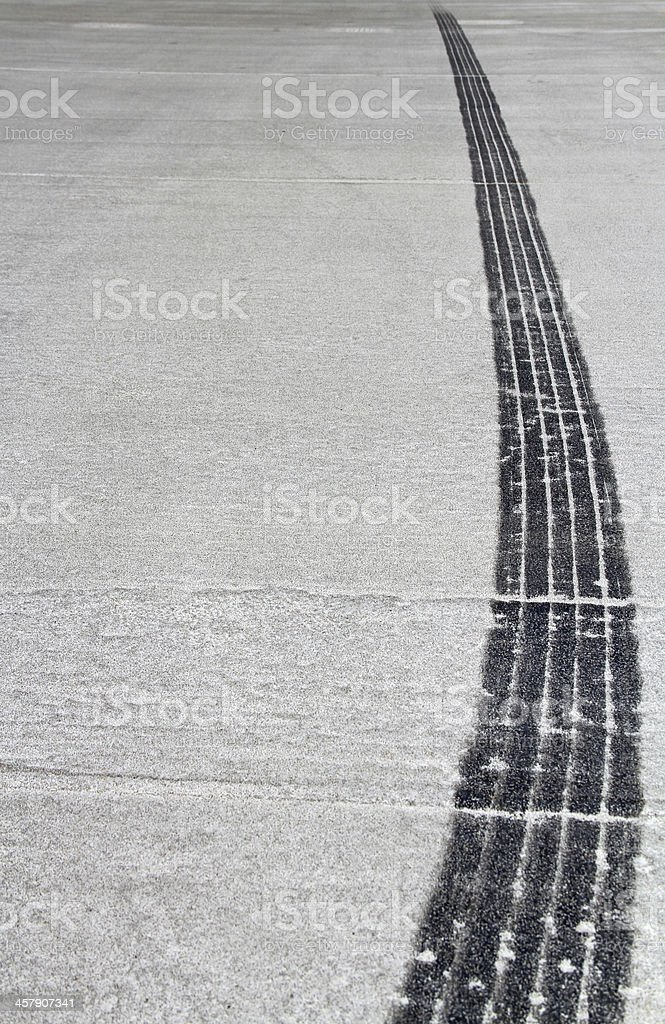 Burn Rubber - Tire Track royalty-free stock photo