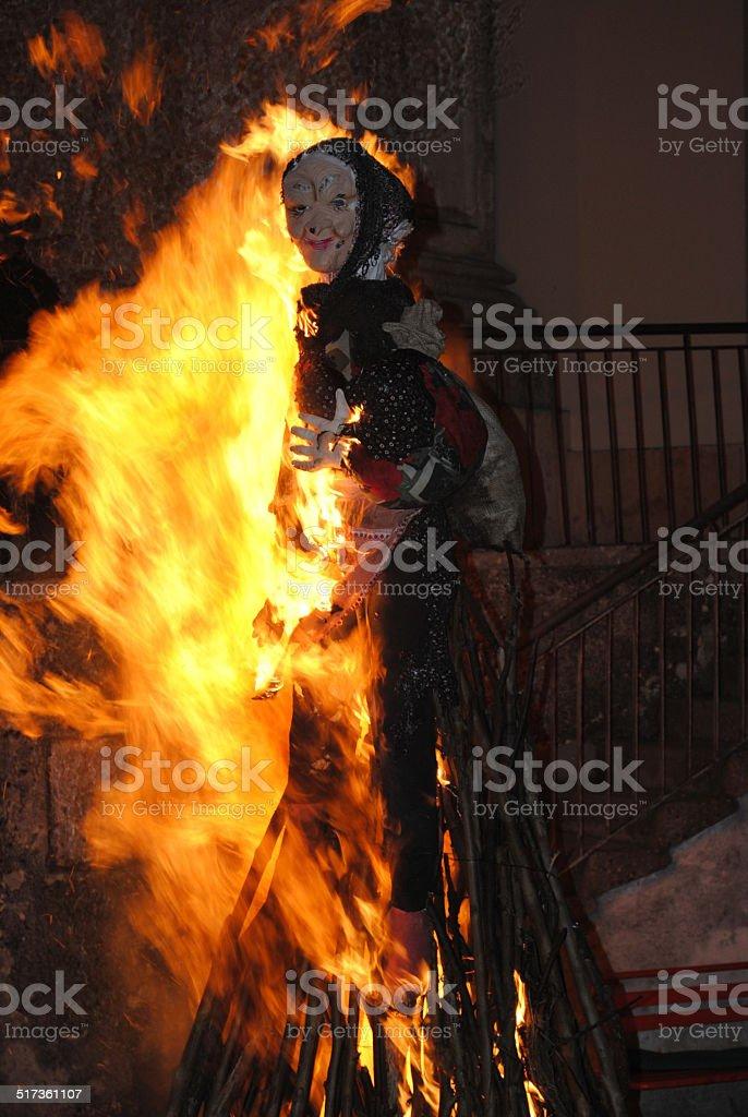 Bruciare la strega - foto stock