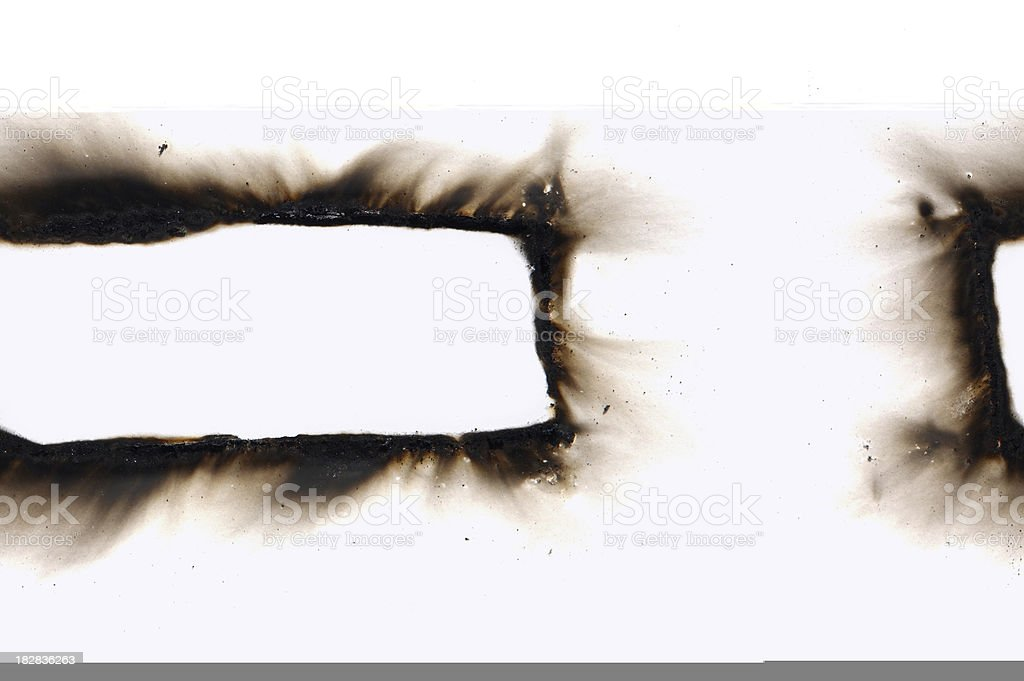 Burned Banner royalty-free stock photo