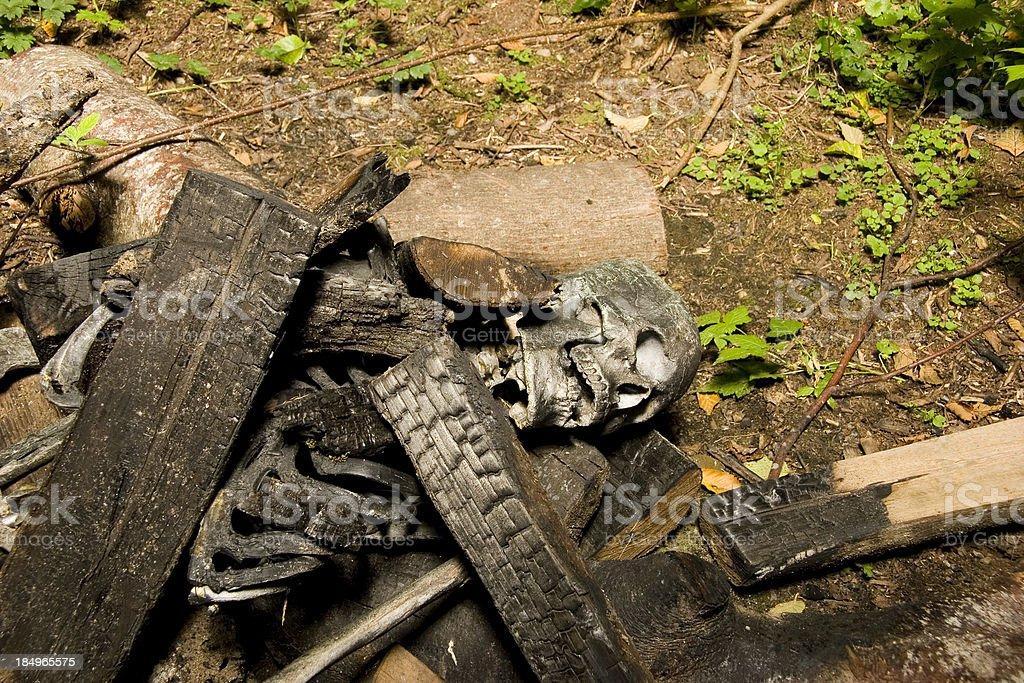 CSI: Burned Body royalty-free stock photo