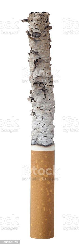 burned cigarette stock photo