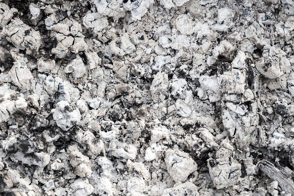 Burned coals closeup. stock photo