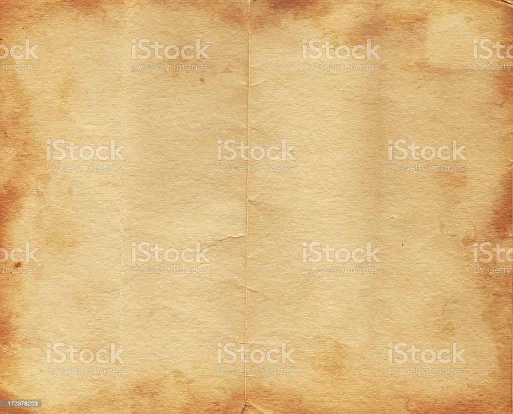 Burned Creased Paper XXL stock photo