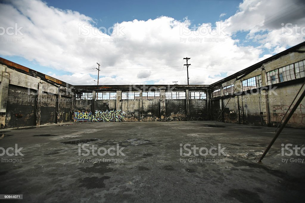 Burned Down Building royalty-free stock photo
