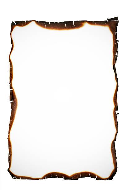 burned edges stock photo