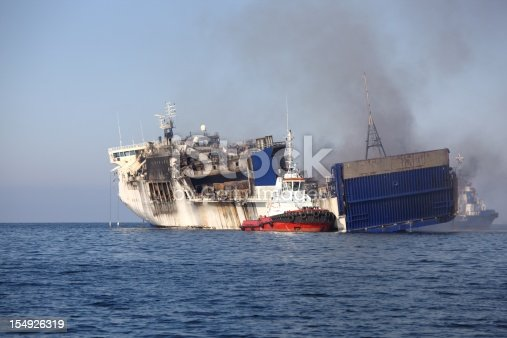 istock Burned ferry 154926319
