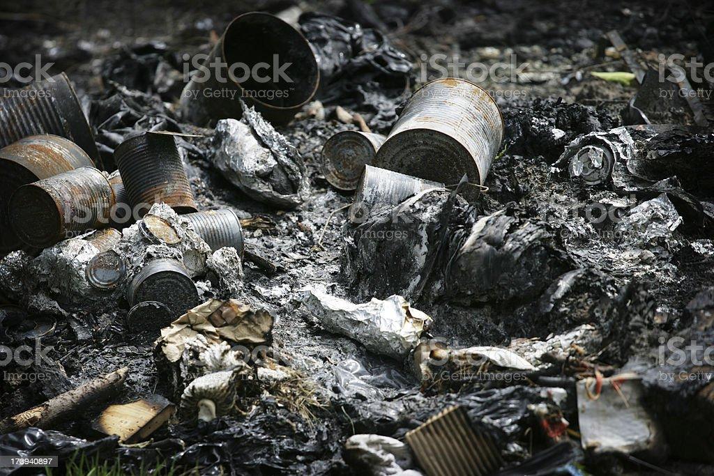 Burned Garbage stock photo