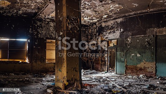 istock Burned interior of the old historical mansion in Astrakhan 872221578