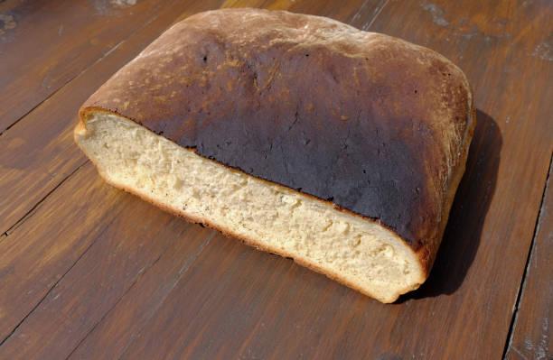 Burned loaf stock photo