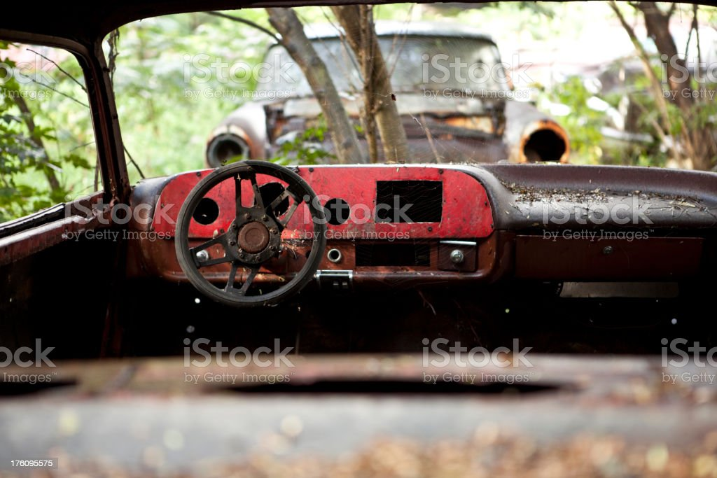 burned out car royalty-free stock photo