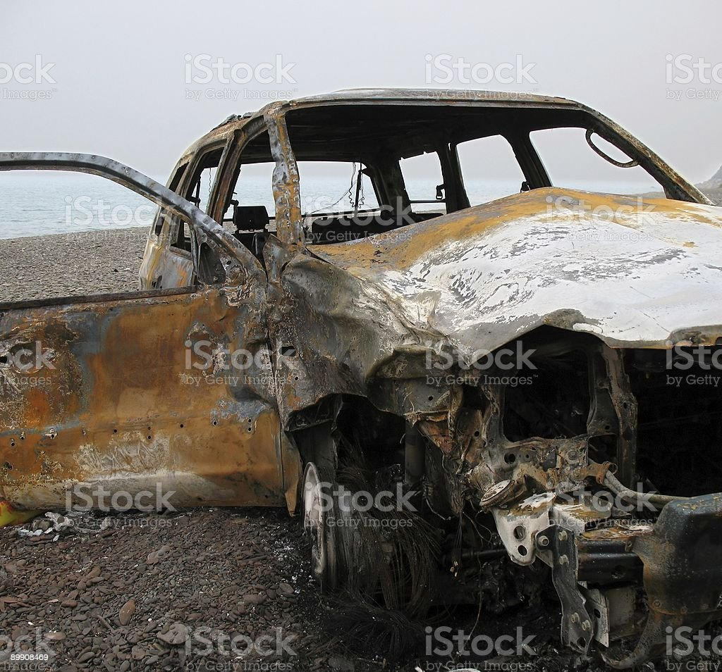 Burned out Car Wreck royalty-free stock photo