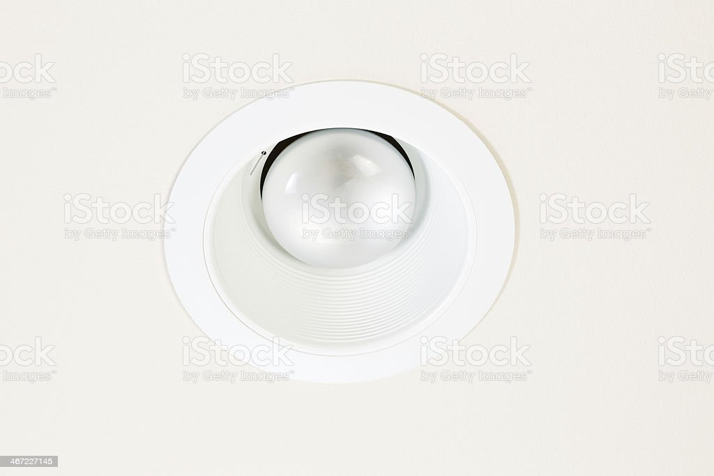 Burned Out Flood Light in Ceiling stock photo