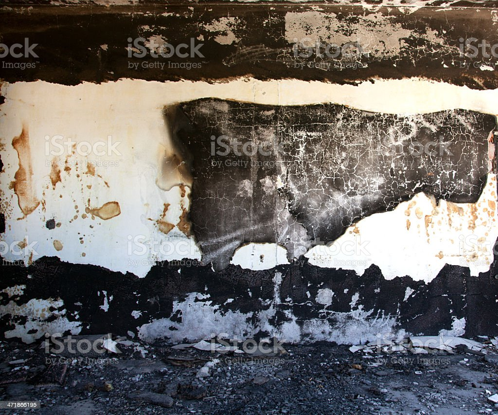 Burned out wall texture royalty-free stock photo