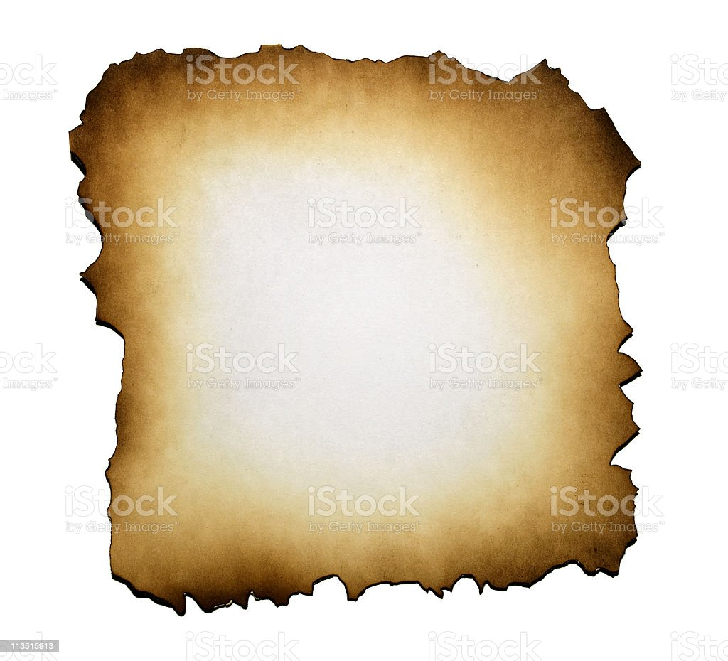Burned paper royalty-free stock photo