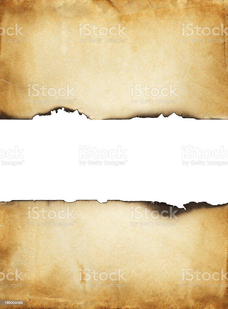 Burned paper stock photo