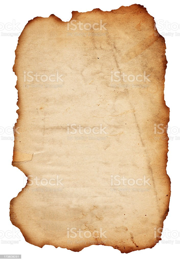 Burned Paper XXXL royalty-free stock photo