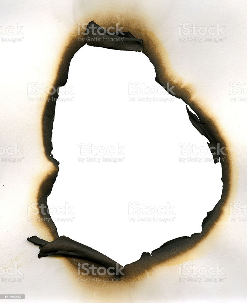 Burned stock photo