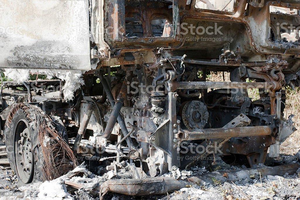 Burned Truck stock photo