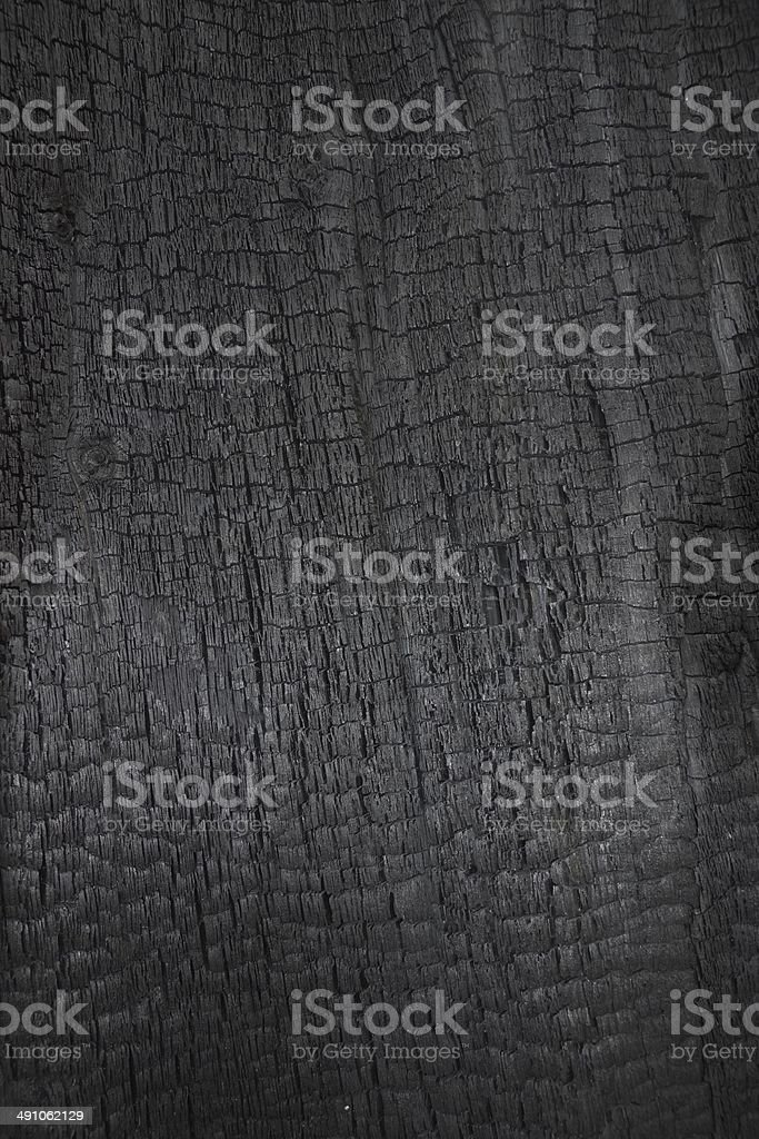 Burned wood as  background stock photo